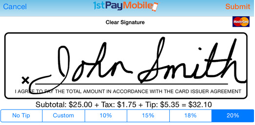 Signature Screen