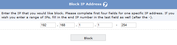 Block Range of IP Addresses