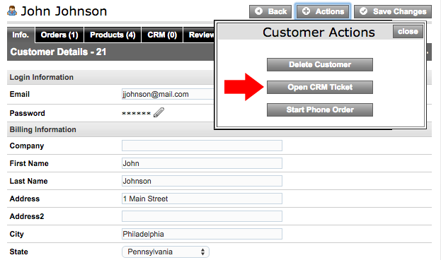 Submit New Merchant CRM Ticket