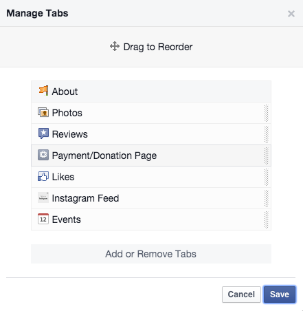 Manage Tabs
