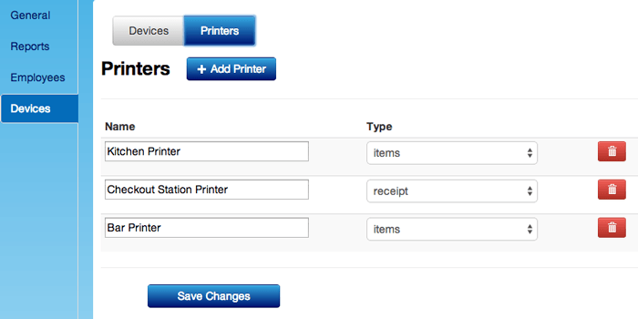 Set Up Printer Names